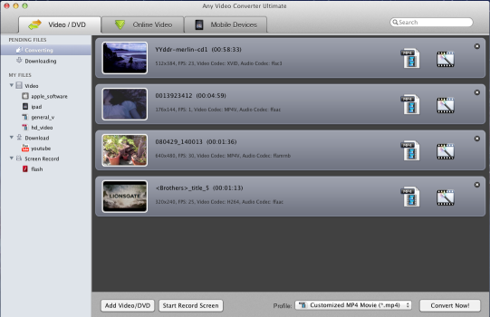 Main Window of Online Video Converter for Mac
