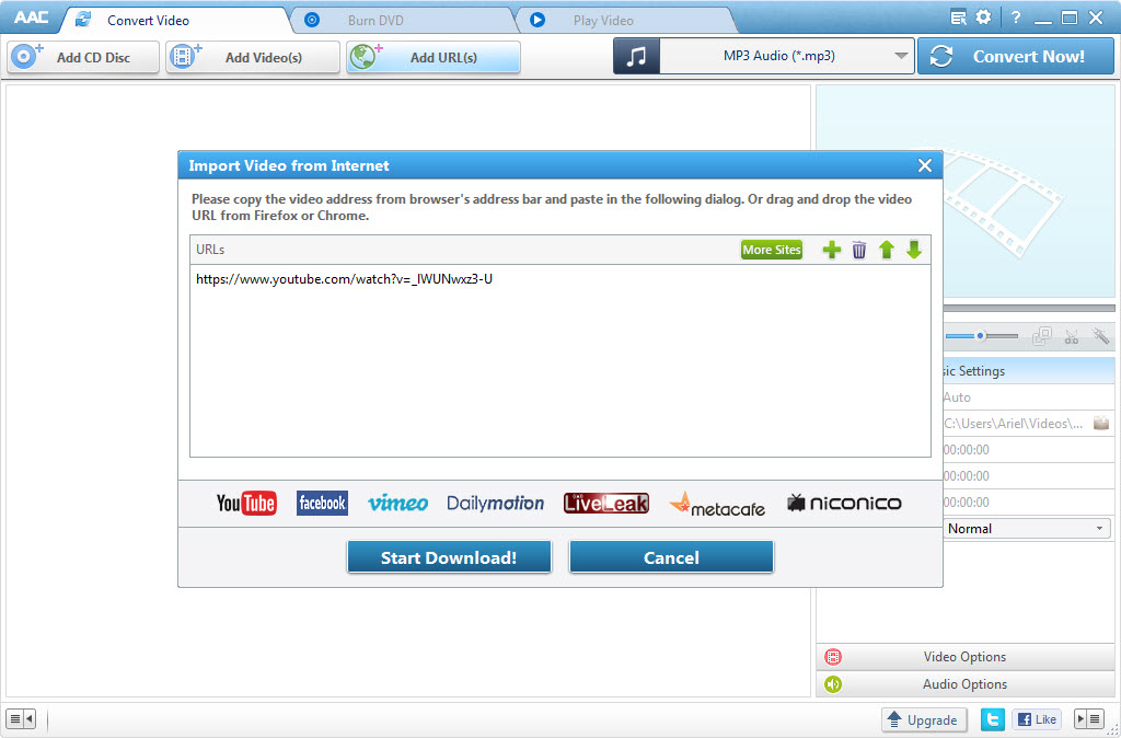 Free YouTube video downloader & converter