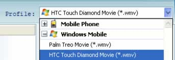 Windows Mobile Video Converter, video to HTC Touch